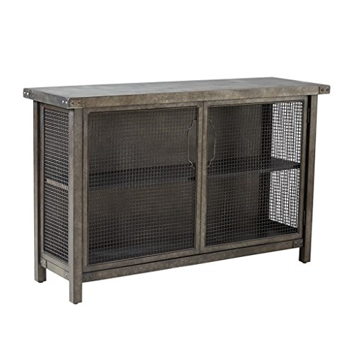 Industrial Rustic Metal Wire Mesh Sideboard Buffet Console Table with Concrete Top - Includes Modhaus Living Pen by ModHaus Living