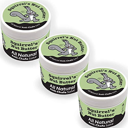 Squirrel's Nut Butter All Natural Anti Chafe, Extreme Bundle Pack (.5oz 3 Pack)