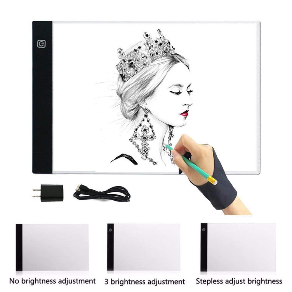 3-Level Adjustable Brightness A4 USB LED Light Stencil Board Light ...