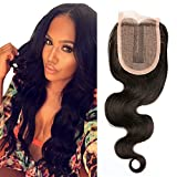 (US) BLISSHAIR 100% Virgin Human Hair Lace Closure 3,5 X 4 Middle Part Body Wave (12inch)