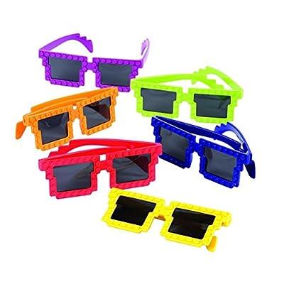 12 Building Block Glasses; Build in Style! + Bonus Gift Boutique Balloon