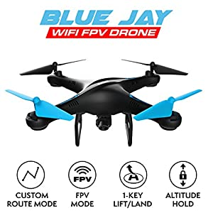 Drone with Camera Live Video - U45W Blue Jay WiFi FPV HD Camera Drone with 2 Batteries Altitude Hold and 1 Key Control RC Drone Quadcopter from UDIRC