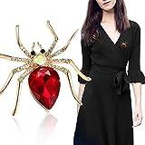 Women's Crystal Rhinestone Spider Brooch Pin Birthday Wedding Gift