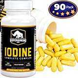 Iodine Complete Complex for Thyroid Support by SuperDosing – 90 Capsules. With Selenium, B Vitamins, Magnesium and Vitamin C. The Supplement Solution Men and Women Need for Glandular and Adrenal Care Review