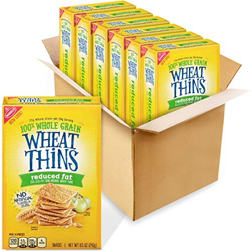 Wheat Thins Reduced Fat Whole Grain Wheat Crackers, 6 - 8.5 oz. Boxes