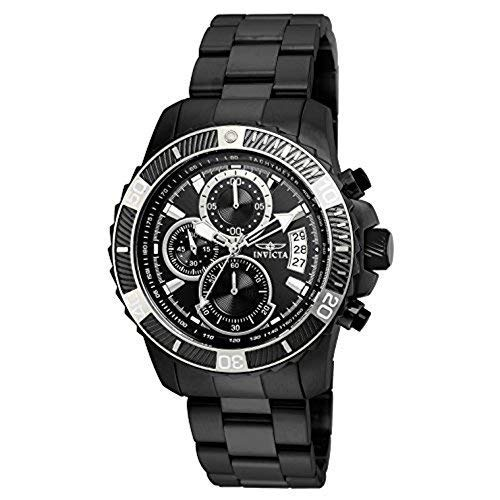 Invicta Men's Pro Diver Quartz Watch with Stainless-Steel Strap, Black, 22 (Model: 22417