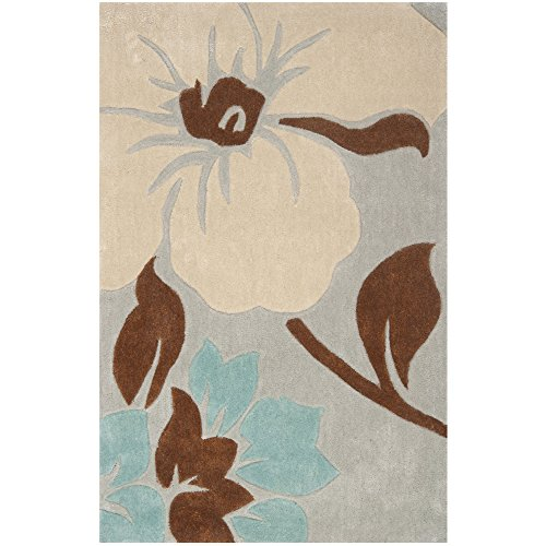 Safavieh Modern Art Collection MDA616A Handmade Contemporary Floral Ivory and Multi Polyester Area Rug (2'6