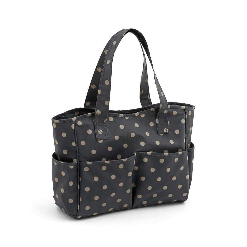 HobbyGift Value Collection: Craft bag: antracite opaco in PVC a pois, in cotone, colori assortiti, 12.5 x 39 x 35 cm Groves MRB\263