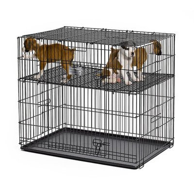 Floor Midwest Grid Metals (Puppy Playpen with Plastic Pan Size: 24