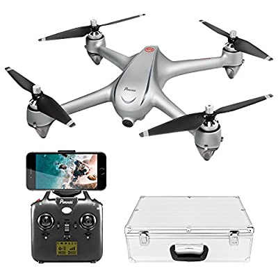 Potensic GPS FPV RC Drone, D80 with 1080P Camera Live Video and GPS Return Home, Strong Brushless Motors, 25 mph High Speed 5.0GHz Wi-Fi Gyro Quadcopter with Compact Suitcase from Potensic