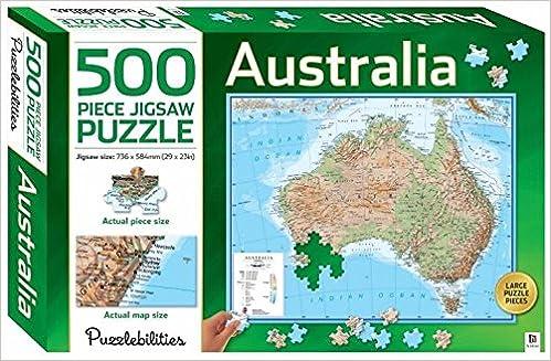 Australia Map Jigsaw.Puzzlebilities Australia Map 500 Piece Jigsaw Puzzle 9781743633427