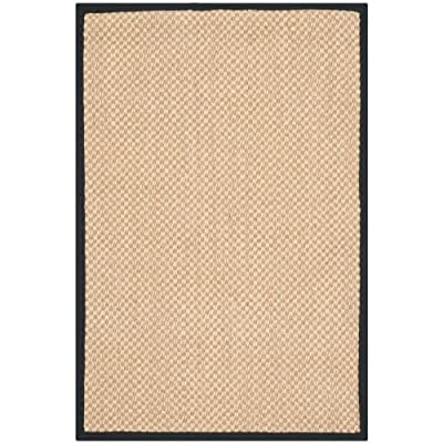 Safavieh Natural Fiber Collection NF141A Tiger Paw Weave Maize and Black Sisal Area Rug (2' x 3') - Construction Power Loomed Fiber/Finish 100% Sisal Pile Backing Power Loomed Rugs Do Not Use Backing Material On The Underside Of The Rug. A Thin Coat Of Latex Is Applied To The Underside Of The Rug To Secure The Yarns Firmly In Place. This Latex Coat Is Virtually Invisible And Is Not Considered Backing Material. - living-room-soft-furnishings, living-room, area-rugs - 51YLa2mspuL. SS400  -