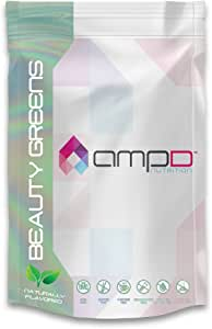 AMPD Beauty Greens (380 Grams - 30 Servings) - Collagen Peptides + Super Greens - Improves Health of Skin, Hair, Nails - Certified Paleo Friendly
