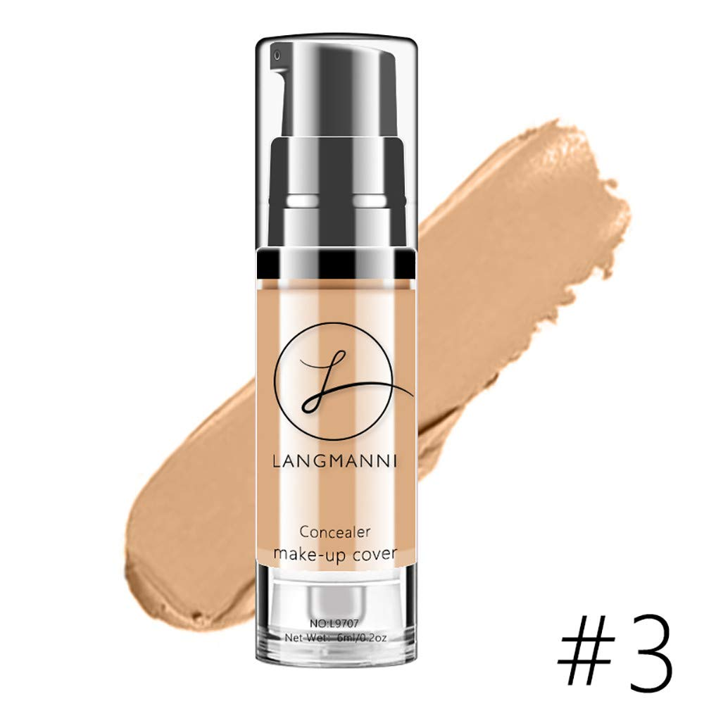 Makeup Liquid Concealer Foundation Moisturizing Waterproof Concealer BB Cream B by ABASSKY (Image #1)