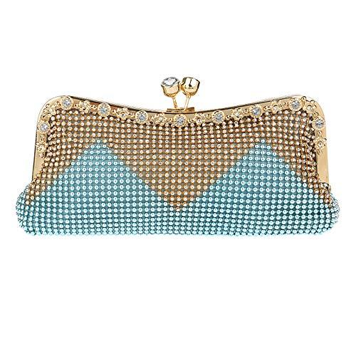 Prom Bourse Sac Clutch Pochette Diamant Robe Banquet Perle Sac De Femme Blue à Fête D'embrayage Mariage Sac Soirée Main Pqxzgf7Sw