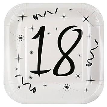 Chal - 10 platos cumpleaños 18 años: Amazon.es: Hogar