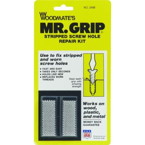 Woodmate 2498 Mr. Grip Screw Hole Repair Kit ,Steel ,Pack of 1 -