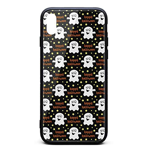 Phonerebey iPhone Xs Max Case,Halloween fantasmas Decor Anti-Scratch Shockproof Slim Cover Case Compatible with Apple iPhone Xs Max Case,TPU and Tempered Glass]()