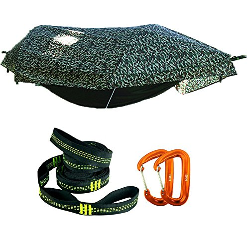 WintMing Patent Camping Hammock with Mosquito Net and Rainfly Cover (Camouflage)