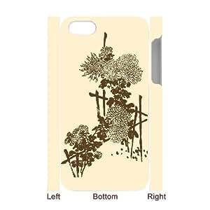 SYSD Diy Iphone 4/4s hard Case Chrysanthemum ,customized 3D case KJ771708
