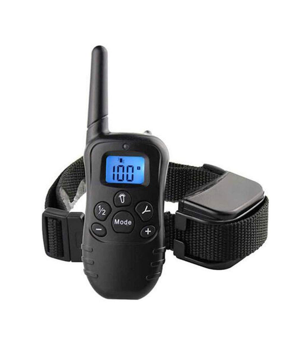 Black 12.542cm Black 12.542cm Dog Collar, Dog Training Collar 100% Waterproof Charging 500m Remote Dog Anti-Vibration Collar with LED Lights for Small Medium Size Large Dog (color   Black, Size   12.5  4  2cm)