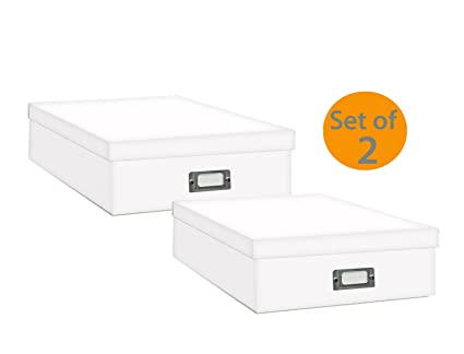 Amazon Pioneer Jumbo Scrapbook Storage Box Crafters White 14