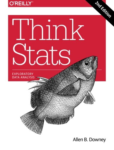 Book cover of Think Stats: Exploratory Data Analysis by Allen B. Downey