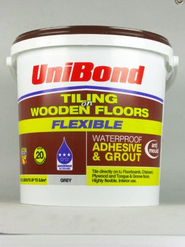 Unibond Tiling On Wooden Floors Adhesive Grout Flexible Grey