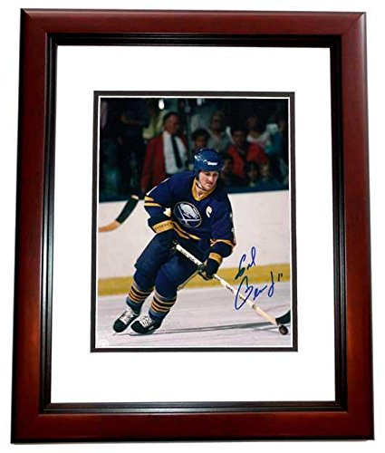 Gil Perreault Signed - Autographed Buffalo Sabres 8x10 inch Photo MAHOGANY CUSTOM FRAME - Guaranteed to pass or JSA - Hall of Famer - PSA/DNA Certified (Nhl Signed Sabres Photo Buffalo)