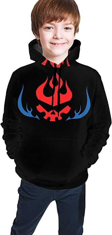 NOT Gurren Lagann Youth Boys Girls 3D Print Pullover Hoodies Hooded Seatshirts Sweaters