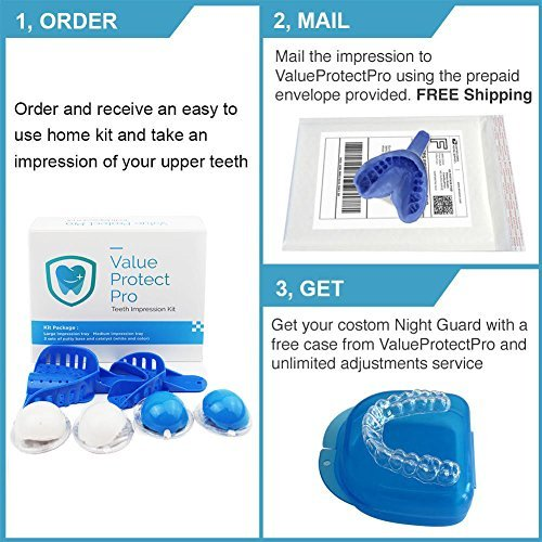 P & J Health Custom Mouth Guard for Teeth Grinding & Bruxism (Upper, Transparent) by P & J Health (Image #5)