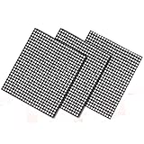 "BBQ Grill Mesh Mat Set of 3 Non Stick Grill Mat Durable Cooking Mat Reusable Grilling Sheets Easy to Clean Barbecue Grill Accessories for Gas, Charcoal, Electric Grill, 15.75"" x 13"""