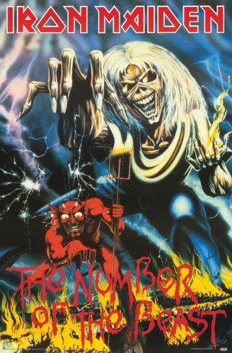 - postersultan 1 X Iron Maiden Poster - The Number of The Beast - 24X36