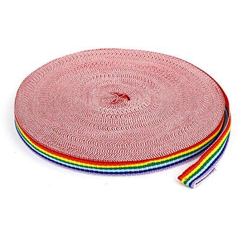 1 centmetro Largura DIY presente de embalagem colorida imprime Stripes fita rolo de 30 jardas