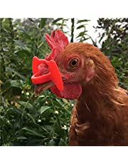 30 Pcs Upgrade Embolus free Chicken Eyes Glasses Plastic Poultry Eyes Peeper Glasses Spectacles Pheasant Protector Hen Pecking Prevention for Poultry