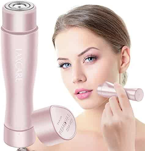 Facial Hair Removal for Women, Laxcare Rose Gold Painless Perfect Hair Remover Waterproof with Built-in LED Light