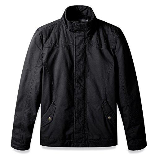 WenVen Men's Winter Slim Fit Quilted Riding Jackets (Quilted Riding Jacket)