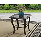 Better Homes and Gardens Colebrook Glass Top Side Table - Brown