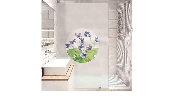 3D Película De Ventana Película para Ventanas Etiqueta de ventana de vidrio personalizada película de vidrio esmerilado puerta corredera balcón ventana de vidrio de baño transparente opaco W45 * H: Amazon.es: Hogar