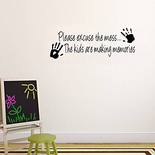 MLM-Please-excuse-the-Mess-Kids-Decor-Vinyl-Wall-Decal-Quote-Sticker-Inspiration-Living-Room-Decoration
