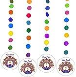 Zaffron Diwali Holiday Party Supplies (Diwali Light Design Hanging Decorations)