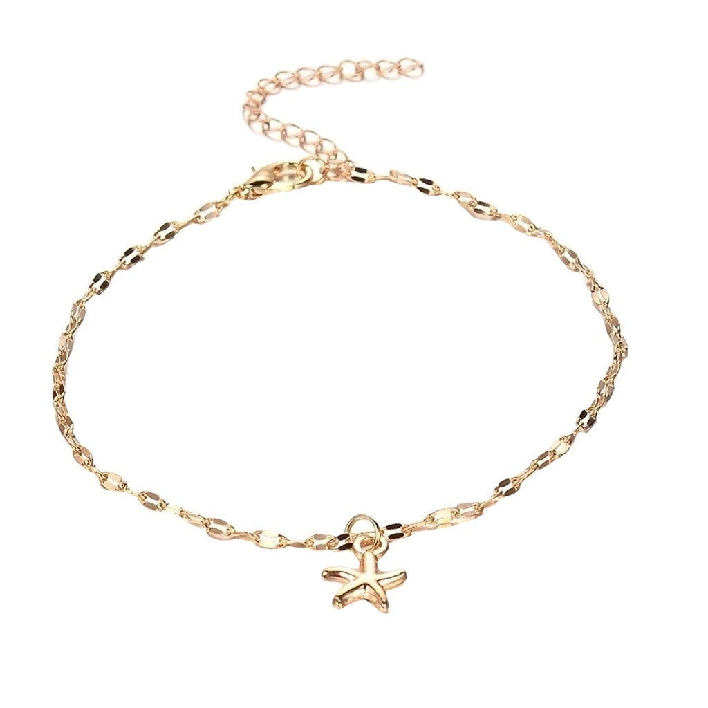 Silver Ankle Bracelets for Women Moon Shape Ankle Chains Bracelets Alloy Beach Foot Bracelet for Women /& Girls Vintage Ankle Foot Chain for Party Travel