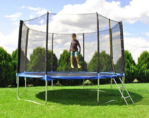 Trampolin 183cm 404cm 427cm Netz und Leiter Gartentrampolin Sicherheitsnetz Neu #2215