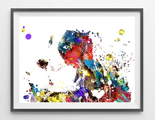 Arvier Border Collie Dog Watercolor Print Border Collie Poster Border Collie Dog Breed Illustration Border Collie Wall Art giclee Print 540 Framed Wall - Wall Framed Art Border