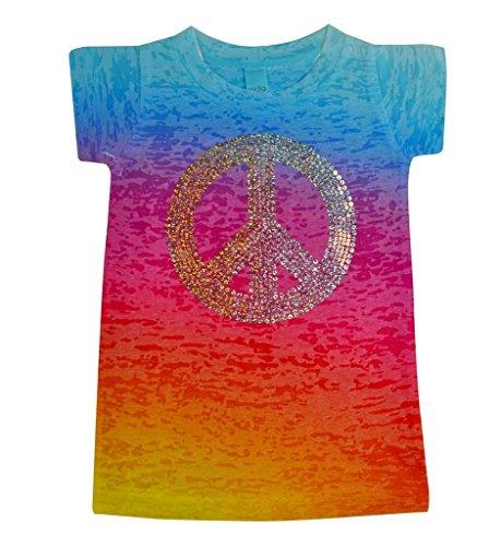 Stella Blu Clothing Little Girls Peace Sign T-Shirt 2T Multi Kids Peace Sign