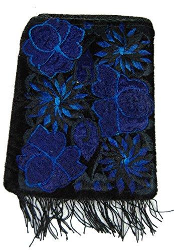Hippy Fair travel coin import shoulder Trade m50fesb phone Guatemala bag purse Blue qq5AH