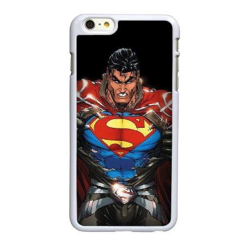M8T55 Superman J8Y1CT coque iPhone 6 4.7 pouces Cas de couverture de téléphone portable coque blanche KU1ZGW6UV