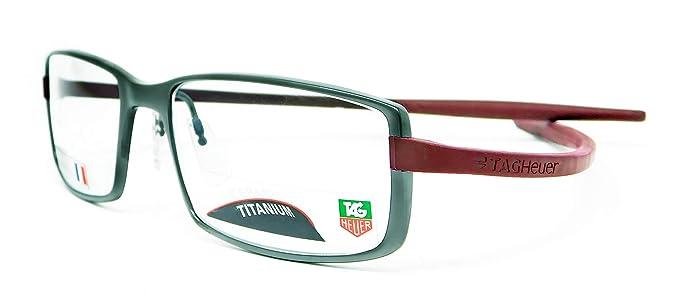 acadac11068 Tag Heuer Reflex Neo Rx Eyeglasses Frames Th 3704 018 56x18 Burgundy  Titanium
