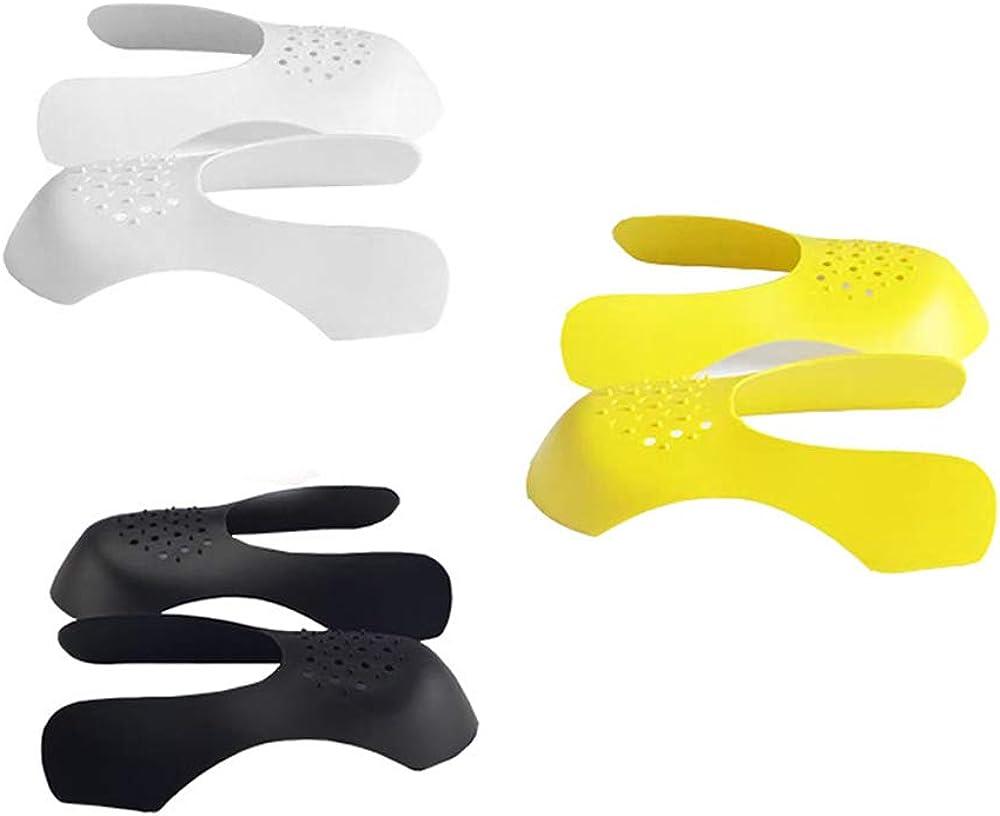 3 Pares Protectores para Dedos de Pies Contra las Arrugas de Zapatos para Mujeres y Hombres Blanco /& Negro /& Amarillo SENDILI Crease Protector