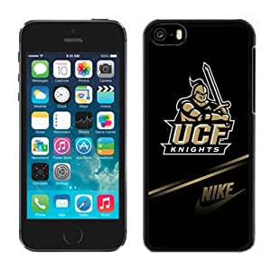 Beautiful Designed With NCAA American Athletic Conference AAC Football UCF Knights 1 Protective Cell Phone Hardshell Cover Case For iPhone 5C Phone Case Black